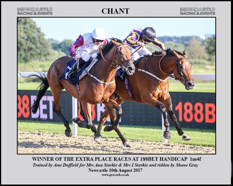 CHANT (far side) delights us all to win at Newcastle