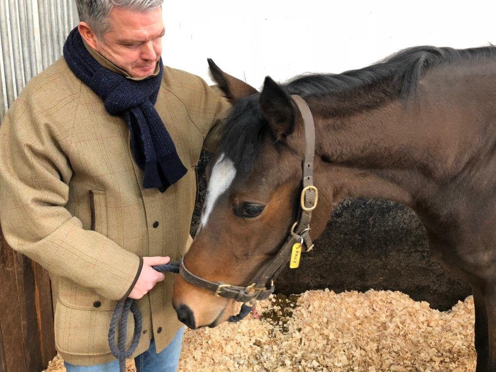 Joe Richardson and his filly