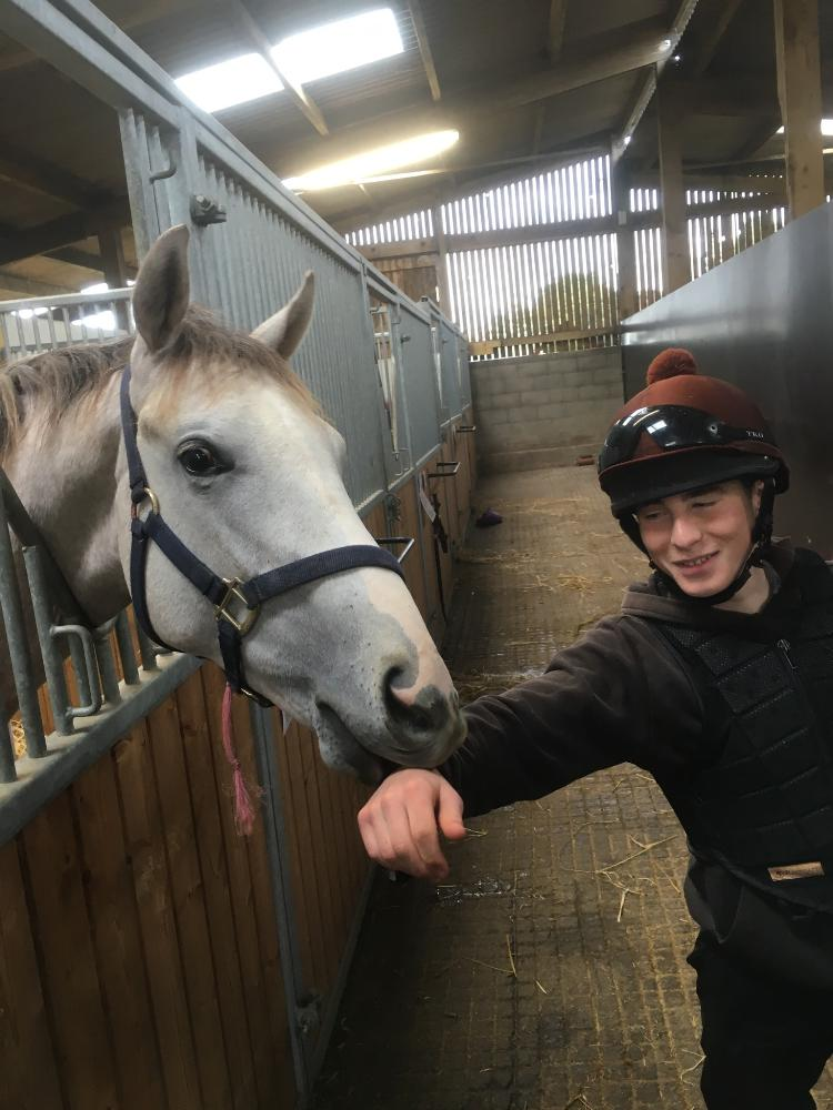 Cheeky chappy by Lethal Force thinks Rowan looks tasty!