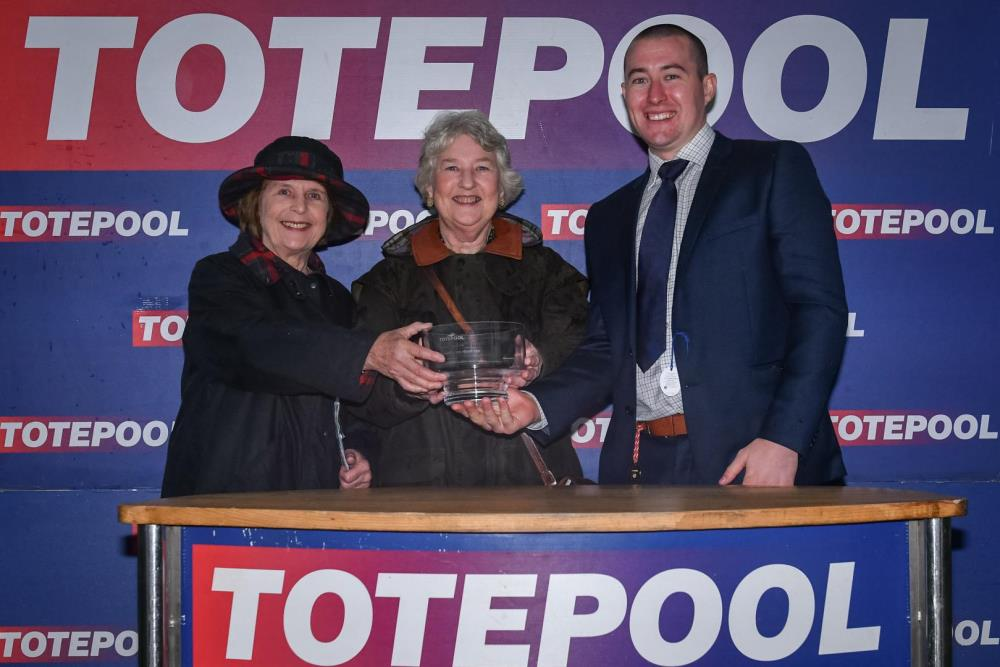 Rosamund and Elizabeth Stott are rewarded for their patience when Hilary J wins